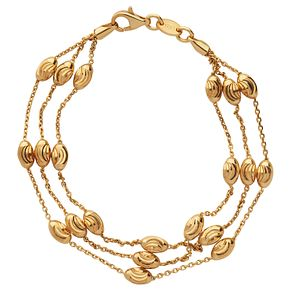 Links of London Essentials Ladies' Gold Plated Bead Bracelet - Product number 8056463