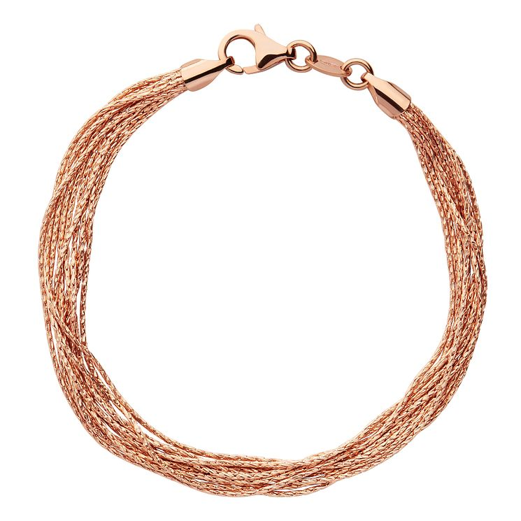 Links of London Essential Silk Rose Gold Plated Bracelet M - Product number 8056471