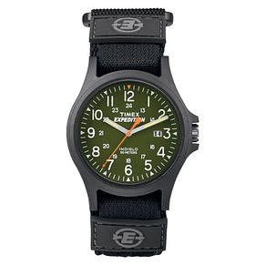 Timex Expedition Men's Green Dial Black Fabric Strap Watch - Product number 8057427
