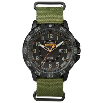 Timex Men's Expedition Camper Black Dial Green Strap Watch - Product number 8057710