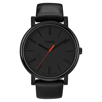 Timex Original Classic Men's Black Leather Strap Watch - Product number 8057788