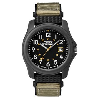 Timex Expedition Men's Black Dial Grey Fabric Strap Watch - Product number 8058245