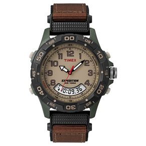 Timex Expedition Men's Brown Dial Brown Fabric Strap Watch - Product number 8058296