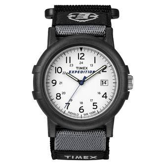 Timex Expedition Men's White Dial Black Strap Watch - Product number 8058539