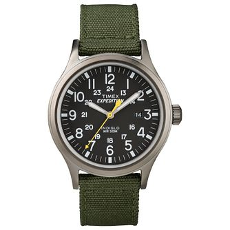 Timex Expedition Men's Black Dial Green Nylon Strap Watch - Product number 8058547