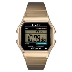 Timex Men's Stainless Steel Expandable Strap Digital Watch - Product number 8059225