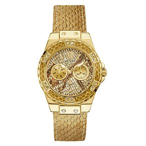 Guess Ladies' Gold Leather Strap Watch - Product number 8059314