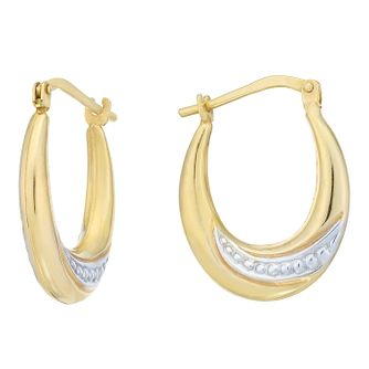 Together Silver & 9ct Bonded Gold Creole Earrings - Product number 8064873