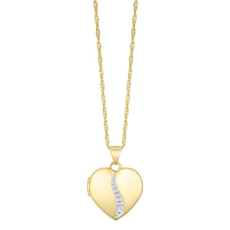 Together Silver & 9ct Bonded Gold Diamond Pendant - Product number 8064903