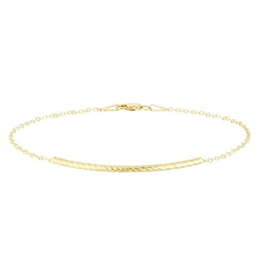9ct Yellow Gold Bar & Chain Bracelet - Product number 8064946
