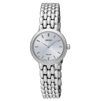Seiko Solar Ladies' Stainless Steel Bracelet Watch - Product number 8070377
