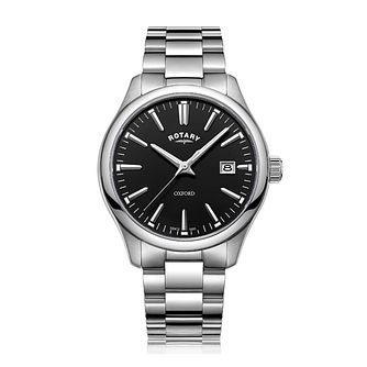Rotary Oxford Men's Stainless Steel Black Dial Watch - Product number 8070431