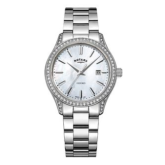 Rotary Oxford Ladies' Stone Set Mother of Pearl Watch - Product number 8070466