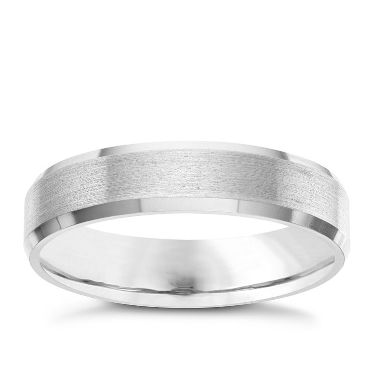 5MM Titanium Matt and Polished Patterned Band - Product number 8072361