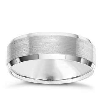 7MM Titanium Matt and Polished Patterned Band - Product number 8072981