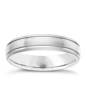 5MM Titanium Matt and Polished Groove Band - Product number 8073155