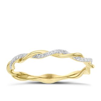 9 Carat Yellow Gold Diamond Twist Eternity Ring - Product number 8079269