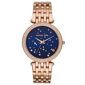 Michael Kors Darci Ladies' Rose Gold Tone Stone Set Watch - Product number 8080577