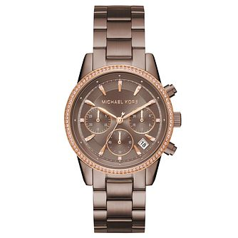 Michael Kors Ritz Ladies' Ion Plated Sable Tone  Watch - Product number 8080658