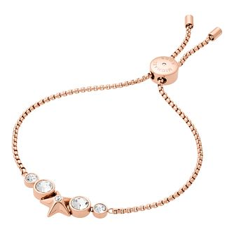 Michael Kors Celes Rose Gold-Tone Crystal Star Bracelet - Product number 8080887