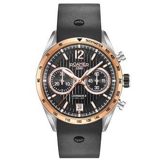 Roamer Men's Black Silicone Strap Chronograph Watch - Product number 8081247