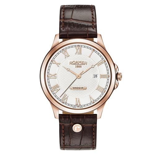 Roamer Windsor Men's Brown Leather Strap Chronograph Watch - Product number 8081298