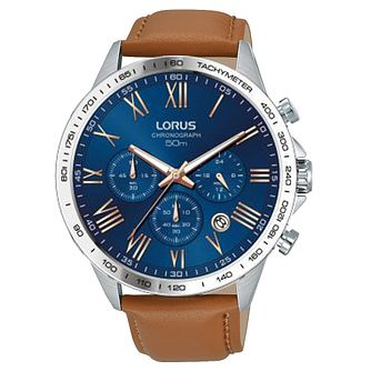 Lorus Men's Tan Leather Strap Watch - Product number 8081425