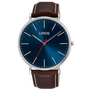 Lorus Men's Large Dial Leather Strap Watch - Product number 8081441