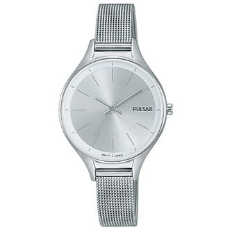 Pulsar Ladies' Stainless Steel Mesh Bracelet Watch - Product number 8081522
