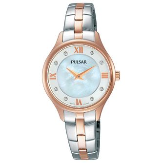 Pulsar Ladies' Two Colour Stainless Steel Bracelet Watch - Product number 8081549