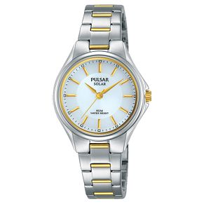 Pulsar Ladies' Two Colour Bracelet Watch - Product number 8081565