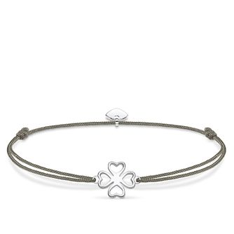 Thomas Sabo Little Secrets Silver Clover-Leaf Grey Bracelet - Product number 8081840