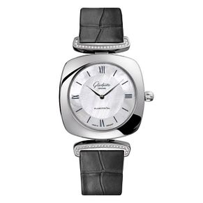 Glashutte Pavonina Ladies' Mother of Pearl Strap Watch - Product number 8084270