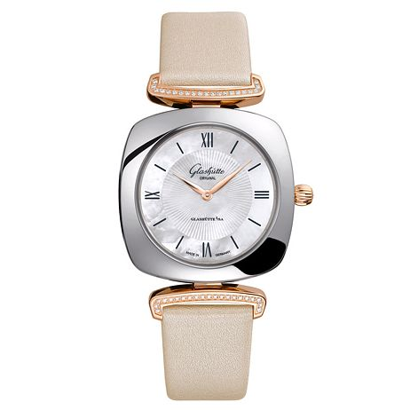 Glashutte Pavonina Ladies' Two Colour Diamond Strap Watch - Product number 8084289