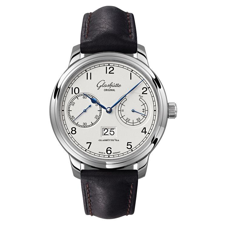 Glashutte Senator Men's Stainless Steel Black Strap Watch - Product number 8084335