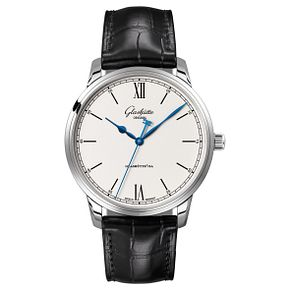 Glashutte Senator Men's Stainless Steel Black Strap Watch - Product number 8084351