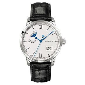 Glashutte Senator Men's Moonphase Black Strap Watch - Product number 8084416