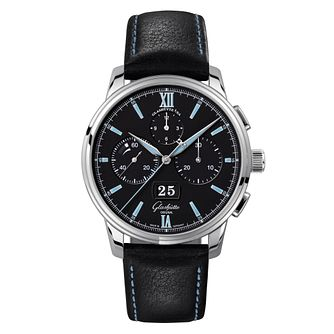 Glashutte Senator Men's Black Chronograph Strap Watch - Product number 8084432