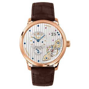 Glashutte Pano Men's 18ct Rose Gold Skeleton Strap Watch - Product number 8084599