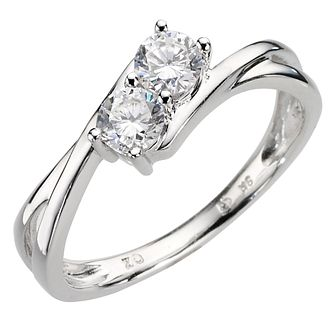 9ct white gold cubic zirconia ring - Product number 8085013