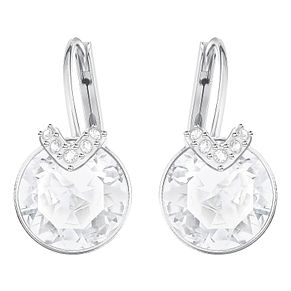 Swarovski Bella Rhodium Plated Drop Earrings - Product number 8085102