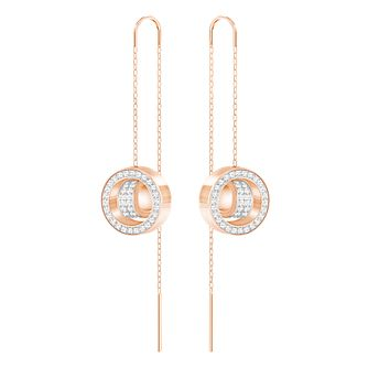 Swarovski Rose Gold Plated Hollow Drop Earrings - Product number 8085161