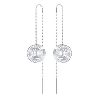 Swarovski Hollow Rhodium Plated Drop Earrings - Product number 8085188