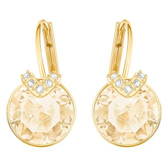 Swarovski Yellow Gold Plated Bella Earrings - Product number 8085218