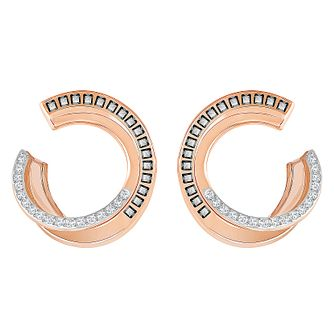 Swarovski Hero Rose Gold Plated Hoop Earrings - Product number 8085242