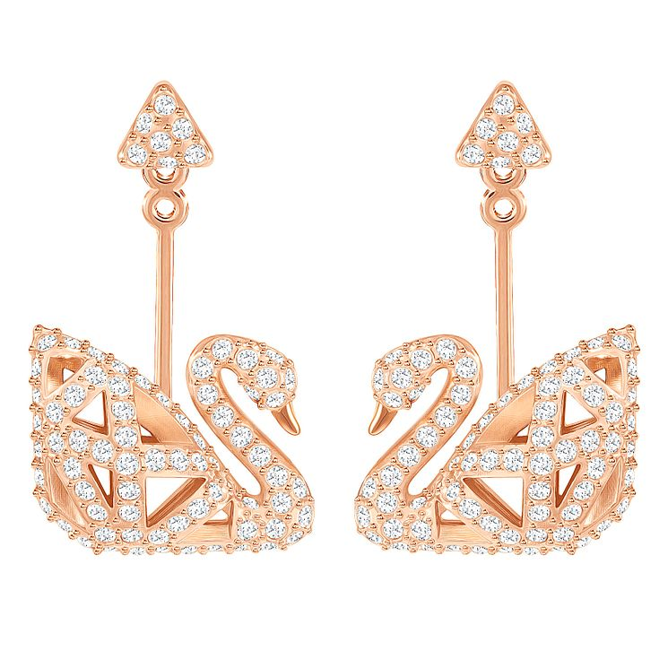 Swarovski Rose Gold Plated Drop Earrings - Product number 8085250