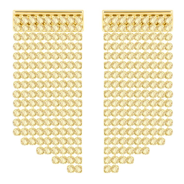 Swarovski Yellow Gold Plated Drop Earrings - Product number 8085269