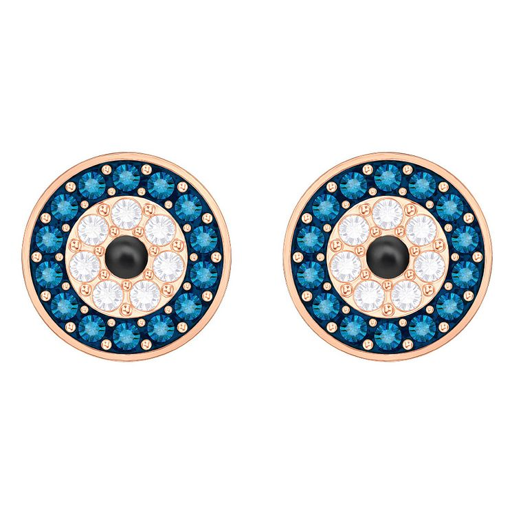 Swarovski Evil Eye Rose Gold Plated Stud Earrings - Product number 8085293