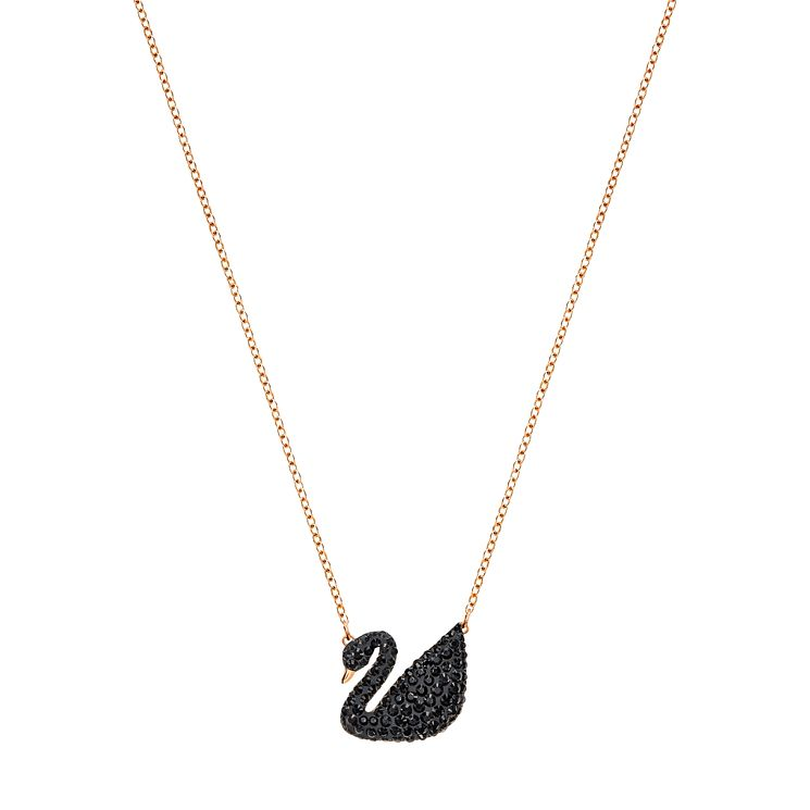 Swarovski Black Swan Rose Gold Plated Pendant - Product number 8085315