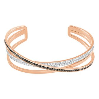 Swarovski Rose Gold Plated Hero Bangle Size M - Product number 8085455
